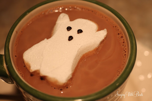 Ghoulishly Rich Hot Chocolate  @singingwithbirds.com