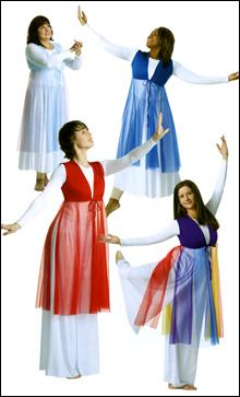 Vestidos de danza cristiana hebrea