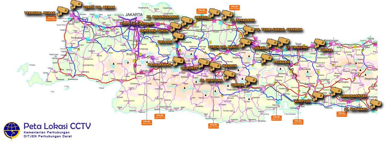 Peta Jalur Mudik (Live CCTV) Lebaran 2011