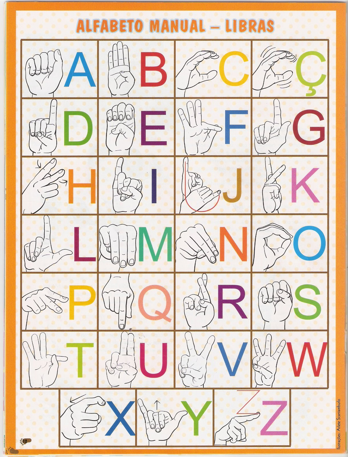 Arte de Educar Com Amor: Alfabeto Manual Libras #BA6711 1218 1600