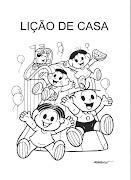 Capa Caderno de Lição de CasaTurma da Mônica