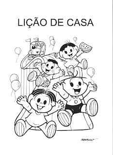 Capa Caderno de Lição de Casa - Turma da Mônica