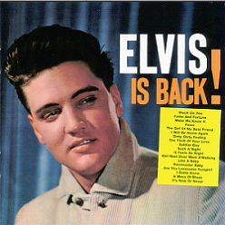 Cover of the music albun Elvis is Back!