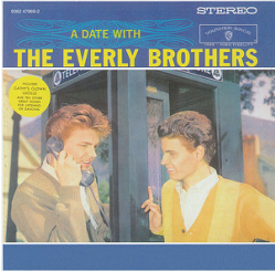 Everly brothers on a pay-phone box. Album cover.