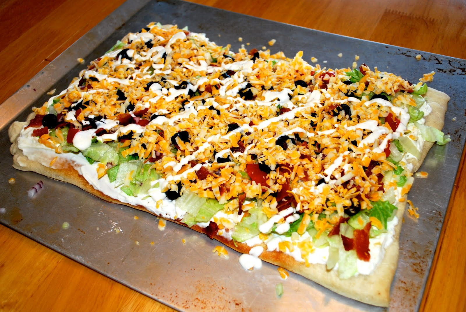 BLT Salad Pizza Recipe — Dishmaps