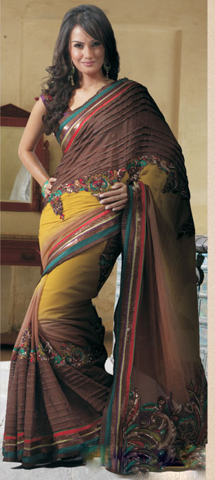 Indian Bridal Sarees Fashion, Latest collection of light weight bridal sarees online