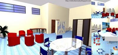 Sala de professores Unifenas, projeto Milton Kennedy