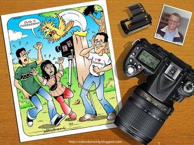 José Carlos Santana repórter fotográfico caricatura