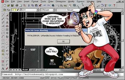 Como recuperar arquivo do AutoCAD
