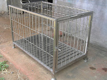 kennel box stainless 100X60X60 2,5