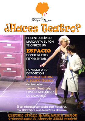 Haces teatro centro cultural cooperante margarita bur n - Teatro en alcorcon ...