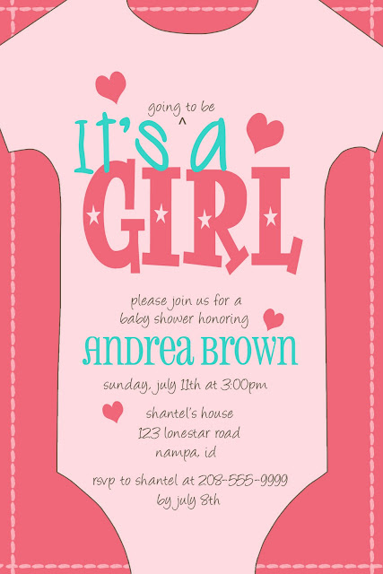 kayleigh 39 s kreations onesie baby shower invitation for andrea