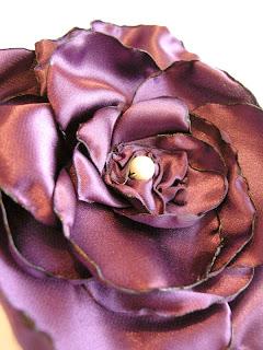 atłasowa fioletowa gumka do włosów
