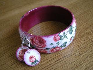 różany ogród - wersja 2 (komplet biżuterii)