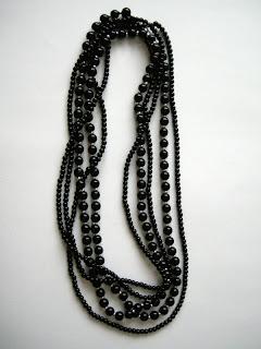 biżuteria z półfabrykatów - czarny mix