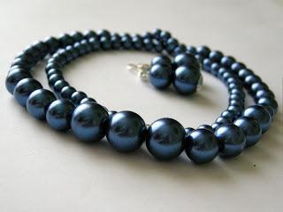 biżuteria z półfabrykatów - perły (komplet)