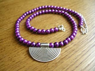 biżuteria z półfabrykatów - etno-perły