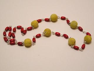 biżuteria z półfabrykatów - żółty koral (korale)