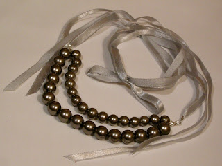 biżuteria z półfabrykatów - szare perły (perły)