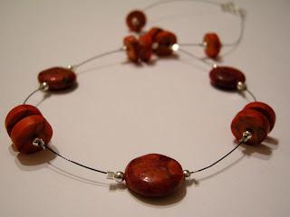 biżuteria z półfabrykatów - dwa oblicza czerwieni (korale)