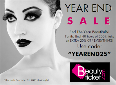 Beauty Ticket's Year End Sale!