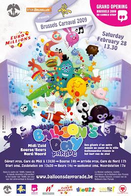 Hivatalos plakát: Balloons Day Parade, Brussels - Katt a nagyításhoz