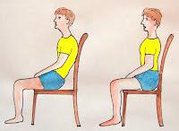 incorrect sitting posture correct sitting posture