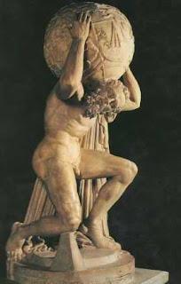 Atlas sosteniendo la bóveda celeste
