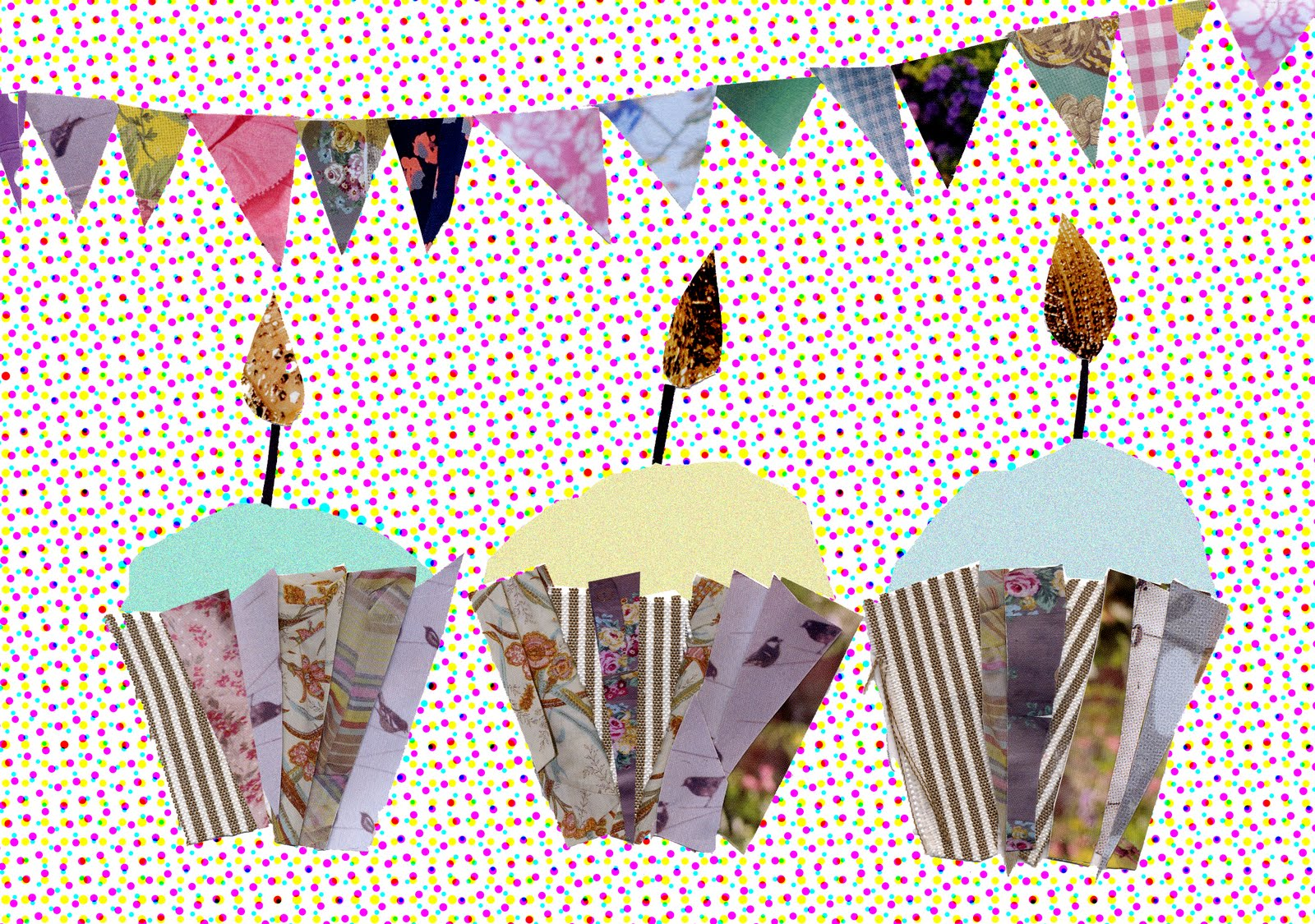 Rebekah Leigh Marshall ArtIllustrationDesign Collage card designs – Picture Collage Birthday Card
