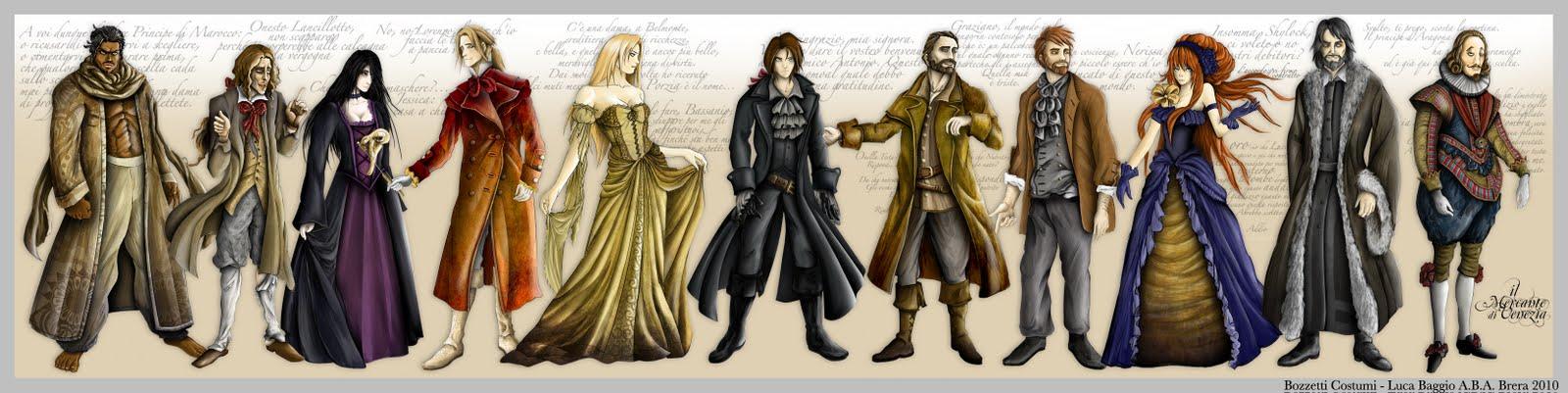 Risultati immagini per il mercante di venezia personaggi