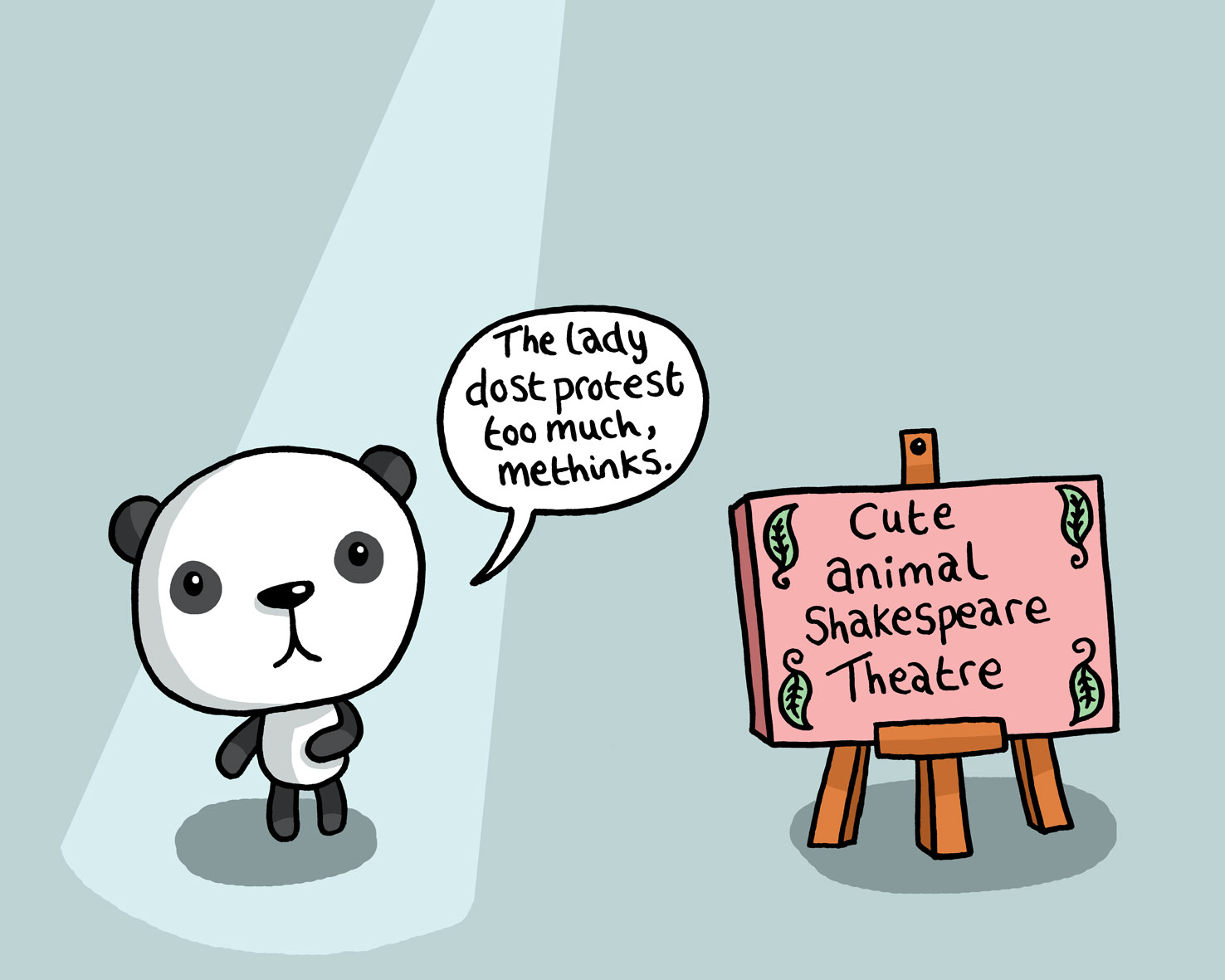 My shakespeare year day 152 cute little cartoon animals make cute animal shakespeare theatre voltagebd Gallery