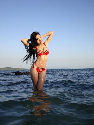 Vietnamese girl in bikini