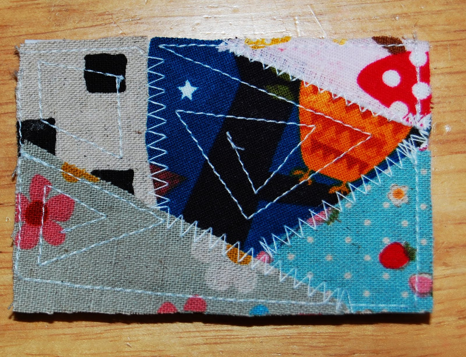 Mybotang fabric scrap series cards - I Get To Unwind With A Bag Full Of Scrap Faby And Loads Of Possibilities Grin