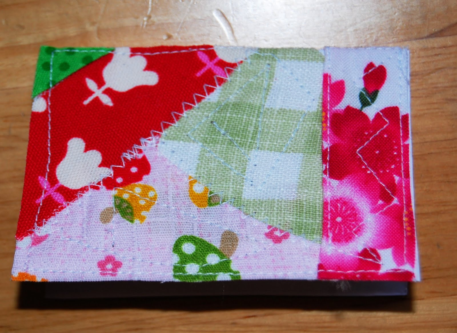 Mybotang fabric scrap series cards - Just Match This And That And Sew I Leave The Edges Raw But You Can Glue On Paper Borders That Would Stop The Edges From Fraying