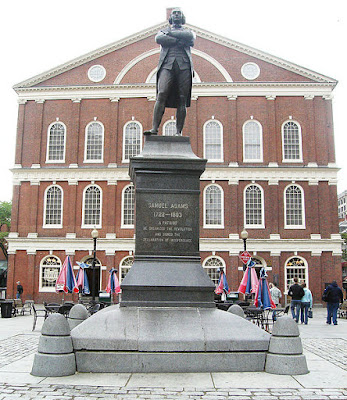 Picture of the Statue of Samuel Adams, in front of the West side of Faneuil Hall  Wikipedia Commons