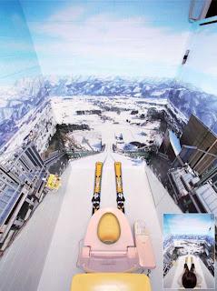 Trampolino da sci nel bagno