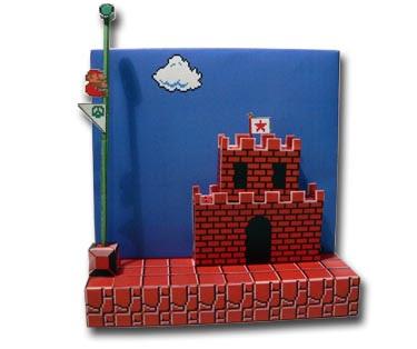 Super Mario Papercraft Diorama: World 1-1 End