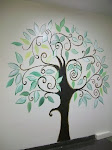 Ornamental tree mural