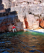 Old Man of Stoer, Tyrolean Traverse