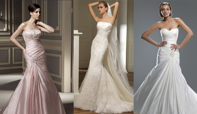 Mermaid wedding dresses for Wedding dresses mermaid cut