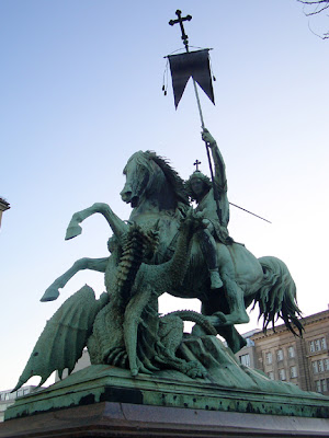 Statue of St. George in Russia