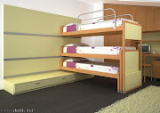 Dormitorio para niño en color verde y blanco que da mucha luminosidad a todo . dormitorio verde chocolate