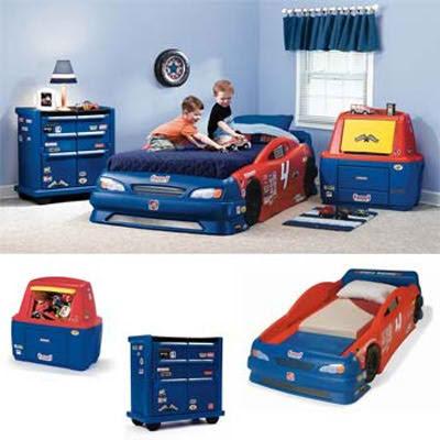 Dormitorios infantiles dormitorio auto de carrera - Dormitorios de cars ...