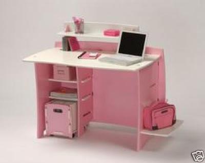 Dormitorios infantiles lindos escritorios para ni a de color rosado - Sillas para estudiar ...