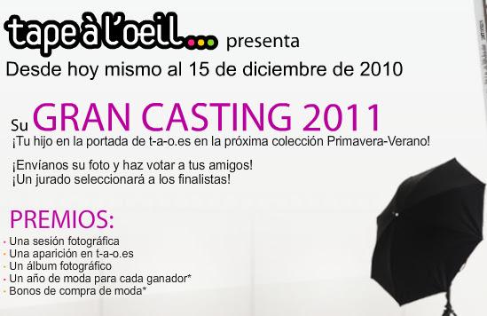 CASTING MODELO INFANTIL 2011 TAPEÁL'OLEIL