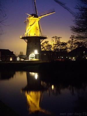 verlichte molen