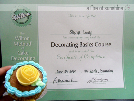 a litre of sunshine: Cake Decorating Class