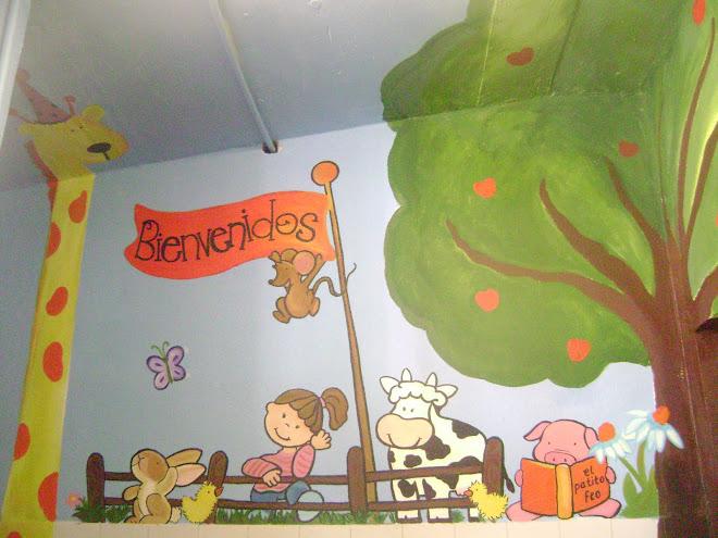 mural para la biblioteca infantil