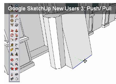 SketchUp move tool move edge to create slant surface