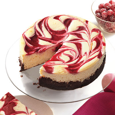 Basic Taste: Cranberry Swirl Cheesecake from Cooking Light